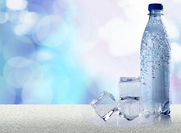 Bottle of water .
