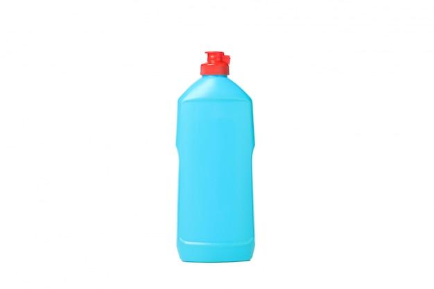 白で隔離される洗剤の液体のボトル