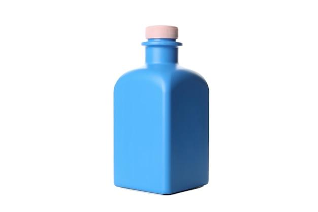 흰색 배경에 고립 된 세탁 액체 병