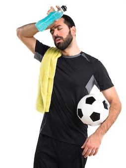 Bottled sport blonde white football