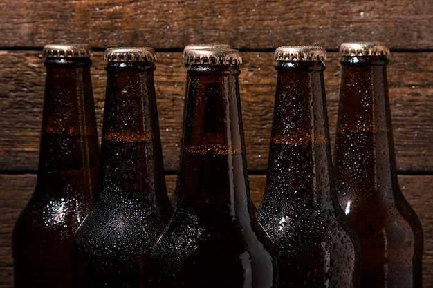Bottles of cold beer