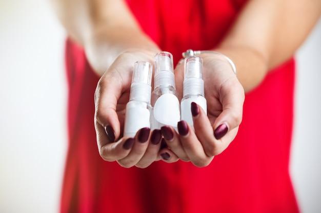 Bottles of parfumes