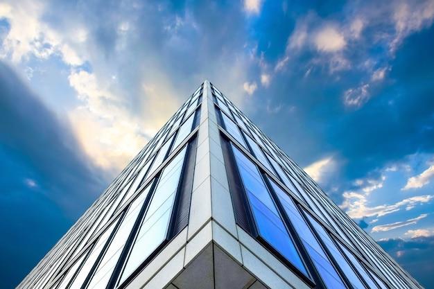 Bottom view of modern skyscraper