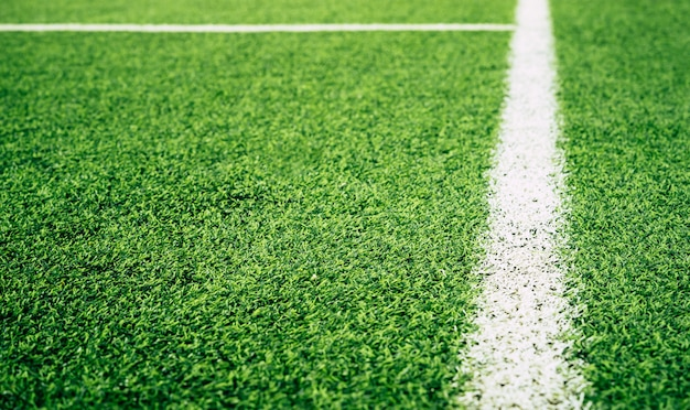 Boundary line of an indoor football soccer training field
