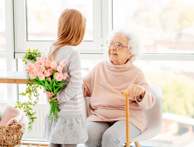 Bouquet for aged woman