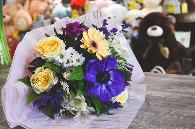 Bouquet of anemones. Premium Photo