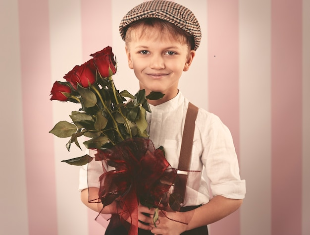 Bouquet di bellissime rose rosse