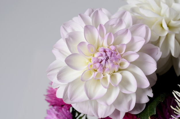 A bouquet of brightly colored chrysanthemums. autumn floral background