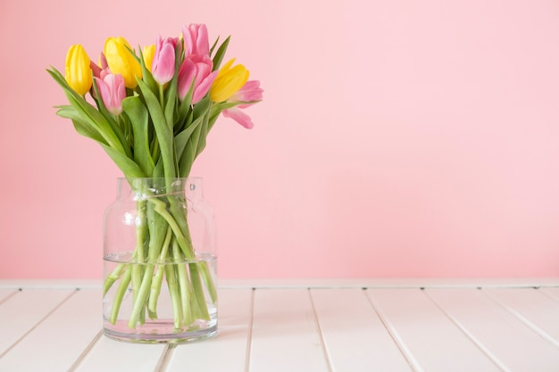Bouquet of decorative tulips