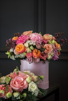 Bouquet of different beauty flowers