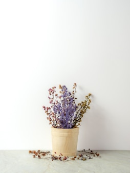 Bouquet of dried gypsophila flowers for decoration