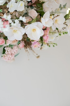 Bouquet of flowers with copy space