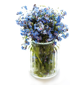 Bouquet of forget me not flowers