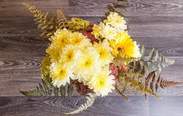 Bouquet of gerbera and chrysanthemum