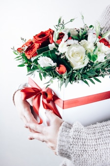 Bouquet in the hands of a girl