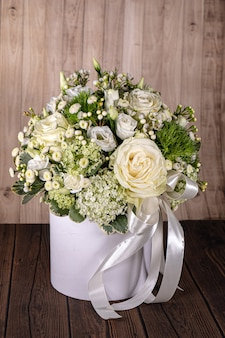 Bouquet for newborn baby girl or boy. flowers composition, gift for kids