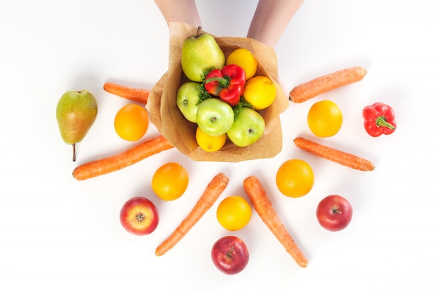 Букет овощей и фруктов