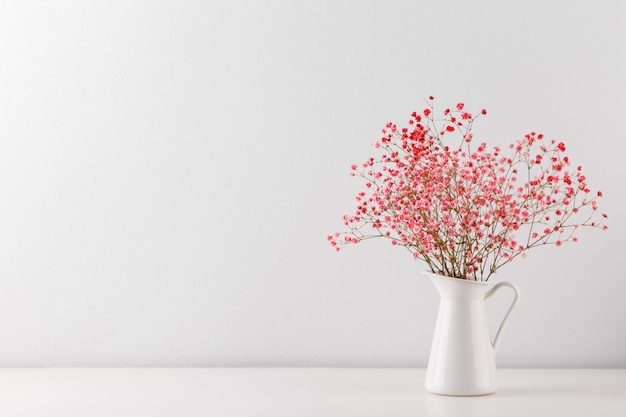 Bouquet of pink gypsophila
