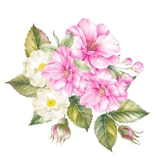 Bouquet of spring flowers isolated