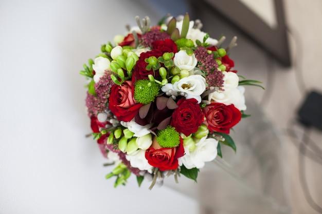 Il bouquet è sul tavolo