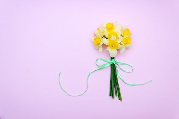 Bouquet of yellow daffodils, spring gift