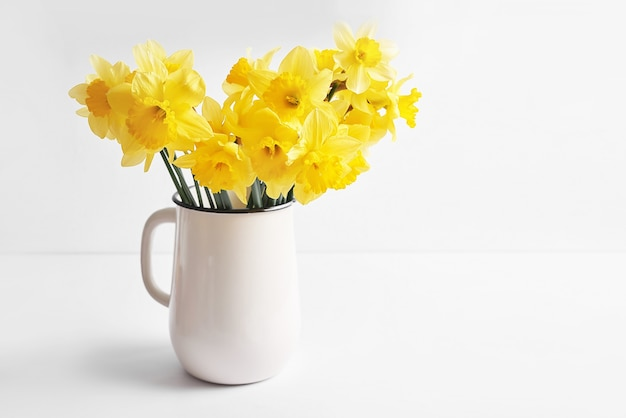 Bouquet of yellow daffodils.