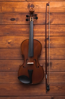 Bow near violin