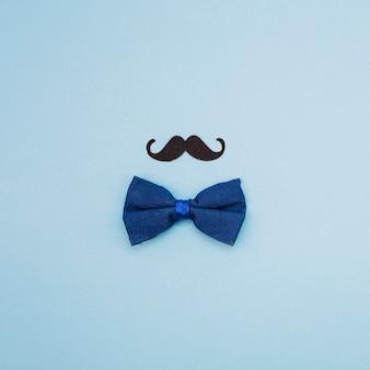 Bow tie and ornamental mustache