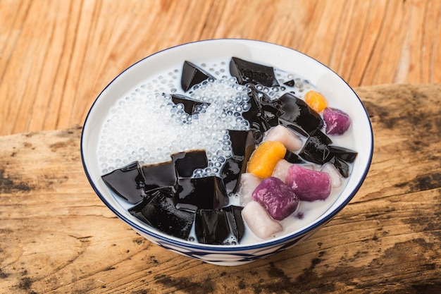 A bowl of chinese herbal fruit traditional sweets
