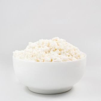 Bowl full of cottage cheese