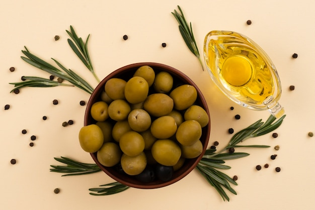 Bowl full of delicious fresh olives