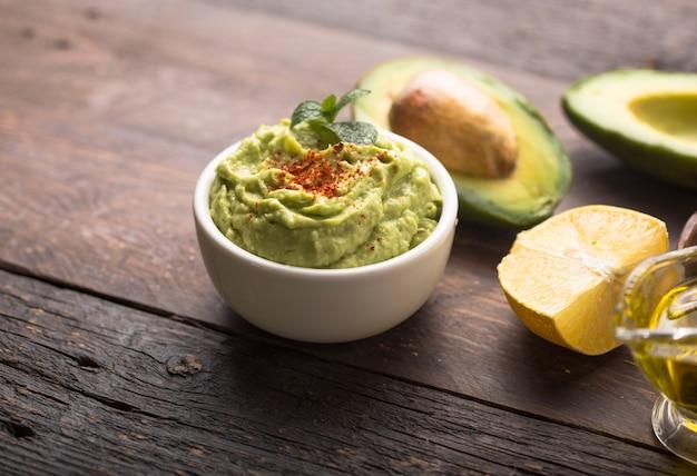 Bowl of green hummus