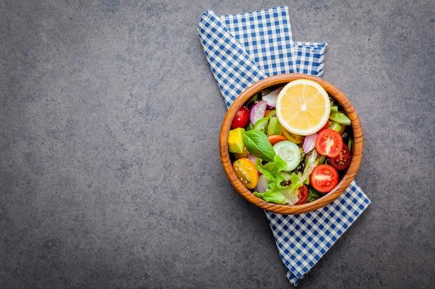 The bowl of healthy vegan salad