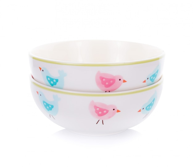 Bowl isolated on the white background