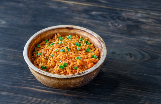 Bowl of mexican rice