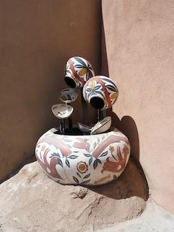 Ciotola mexico dipinto fe nuovo usa art santa