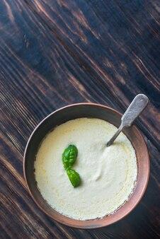 Чаша альфредо - итальянский соус для пасты