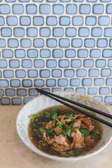 Bowl of Asian pork stew