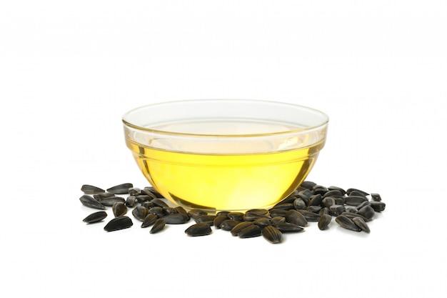 Чаша подсолнечного масла изолирована