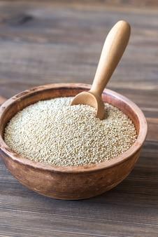 Bowl of white quinoa