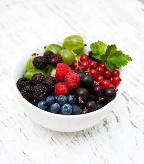 Bowl with berries