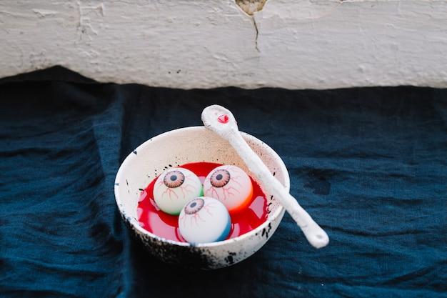 Bowl with eyeballs
