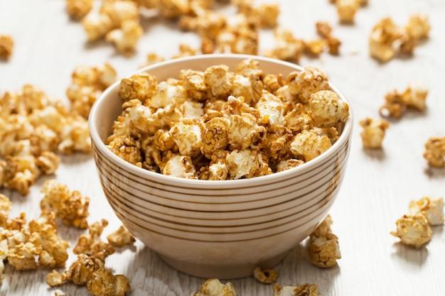 Bowl with popcorn