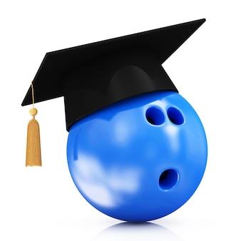 卒業式キャップ付きボウリングボール