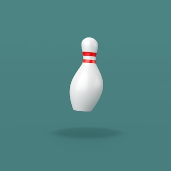 Bowling skittle on blue background