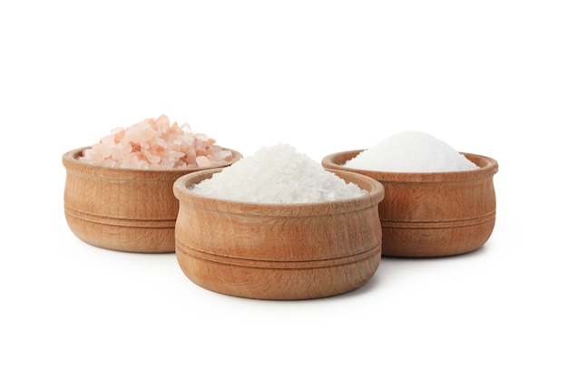Bowls with different salts isolated