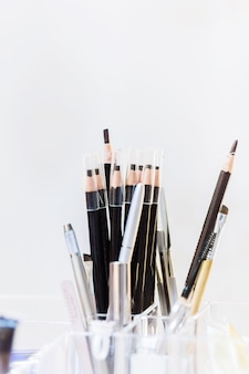 Box of eyebrow pencil with white background