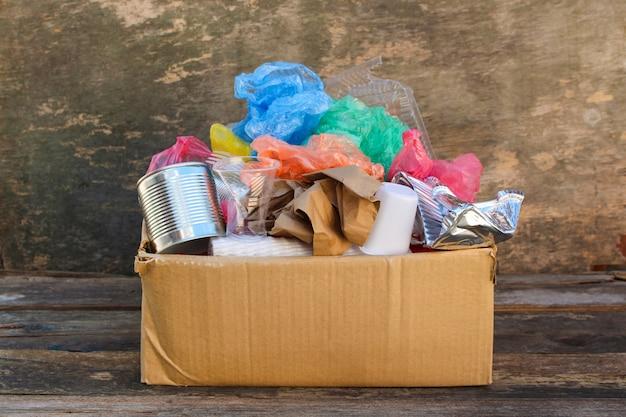 Box with trash