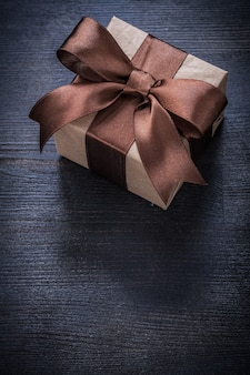 Boxed present tied bow
