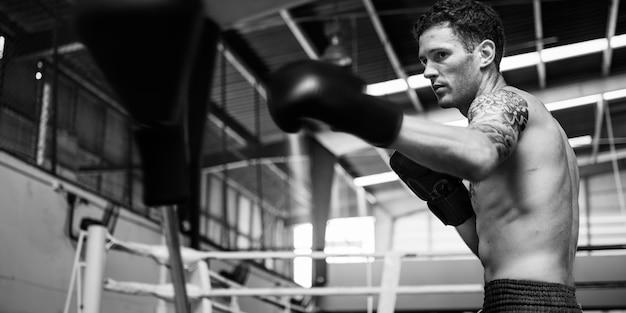 ボクサーボクシング選手強い運動のコンセプトコンセプト